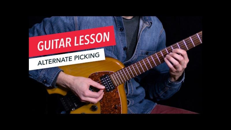 Learn How to Use Alternate Picking | Guitar | Lesson | Beginner | Tim Miller | Berklee Online