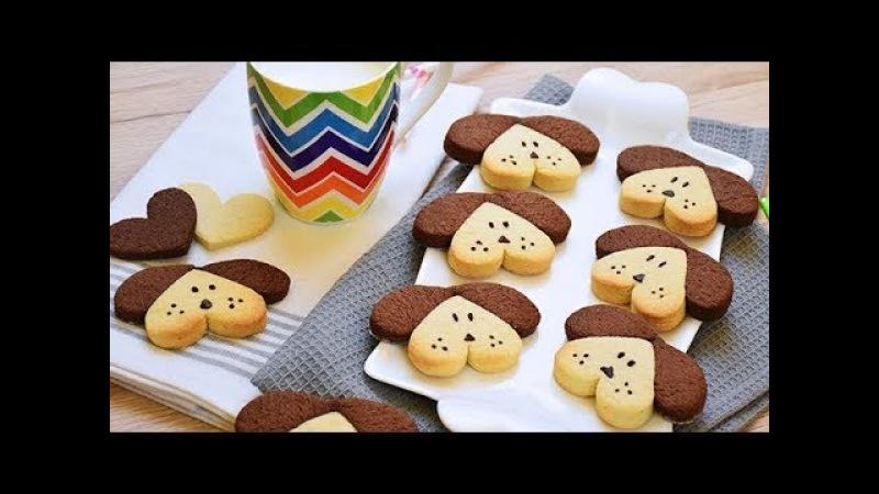 BISCOTTI semplicissimi a forma di CANE - Easy and funny DOG shaped COOKIES recipe