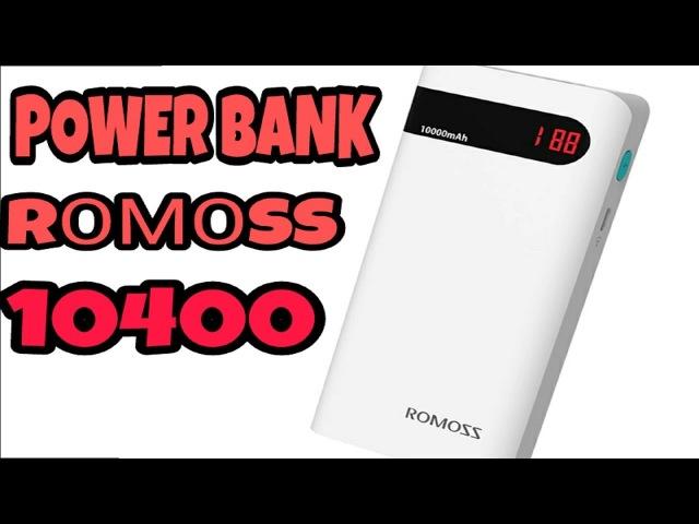 Обзор Тест Оригинальный Powerbank Romoss 4 P вешняя Батарея 10400 мАч ЖК-дисплей