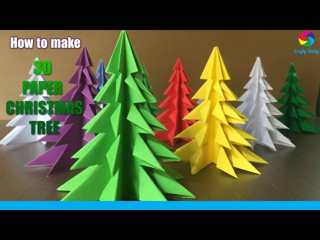 3D Paper Christmas Tree | How to Make a 3D Paper Xmas Tree DIY Tutorial