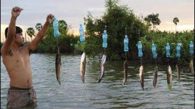 Ловушка Рыболовной Техники - Умный Человек, Ловящий Рыбу С Бутылкой | Ловушка С Несколькими Узлами