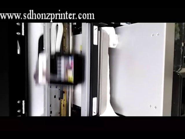 HZ-TA3-6C model A3 size DTG printer printing on white T-shirt/garment