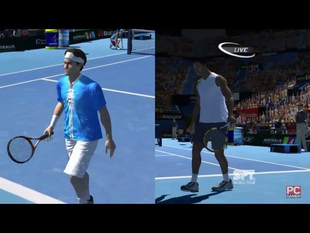 Roger Federer vs Gaël Monfils. Australian Open. Virtua Tennis 3 (1 part)