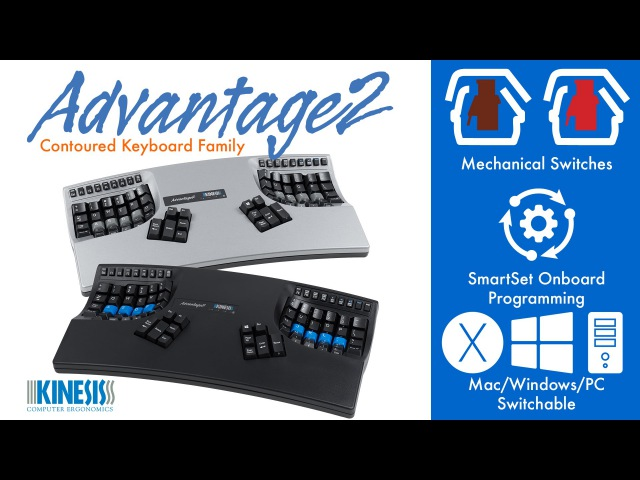 Kinesis Advantage2 Ergonomic Keyboard Features