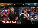 Fnatic vs H2K Gaming   Week 1 Day 2 of S8 EU LCS Spring 2018   H2K vs FNC W1D2 G3