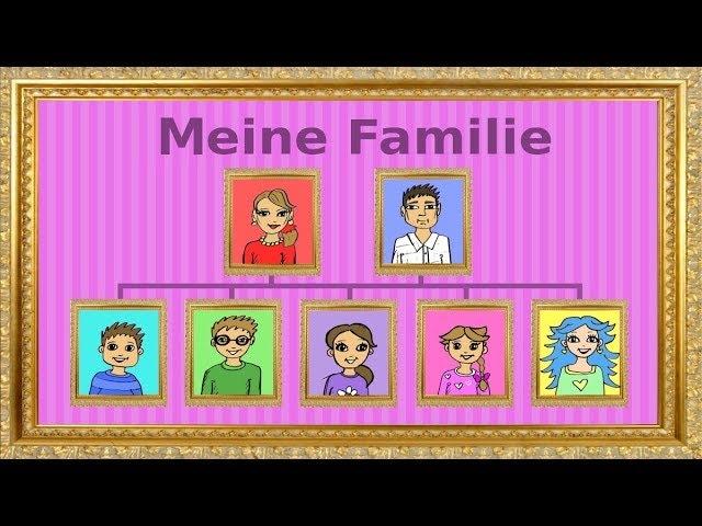 Deutsch lernen: die Familie - Genitiv / family - genitive case - German for children and beginners