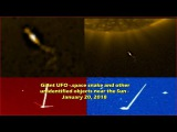 Giant UFO - Space Snake and other unidentified objects near the Sun - January 20, 2018