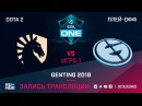 Liquid vs Evil Geniuses - Game 1, Semifinals - ESL One Genting 2018