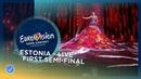 Elina Nechayeva - La Forza - Estonia - LIVE - First Semi-Final - Eurovision 2018