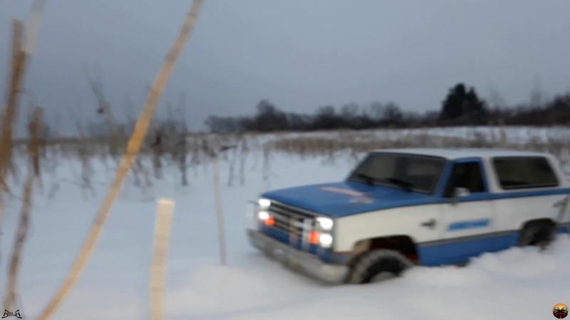 Chevy W по пройденному маршруту. MST CFX-W Blazer k5