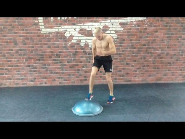 Техника бокса. Тренировка ног. Упражнение на балансировочной платформе. Часть 1.