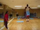 Kyrie Irving core explosiveness and stability workout session with Omar Jones