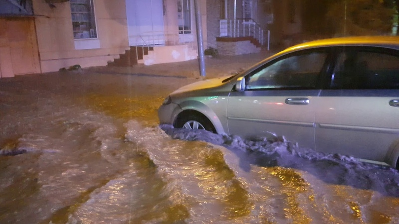 Потоп в Феодосии. 6.09.2018. Центр города