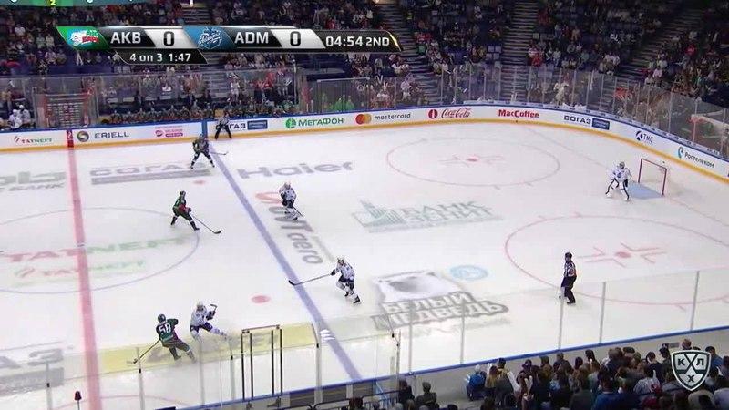 Моменты из матчей КХЛ сезона 1718 • Гол. 10. Ландер Антон (Ак Барс) в ближнюю девятку 26.08