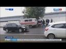 Последствия ДТП в Кемерове где авто влетело в остановку с людьми попали на видео