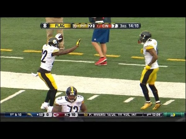 William Gay gets flagged for touchdown celebration. HD