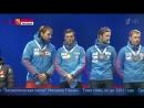 Российским биатлонистам пришлось самим исполнить гимн на пьедестале после триумф
