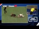 В МЛС судья удалил игрока, а после видеоповтора заменил красную карточку на желтую.