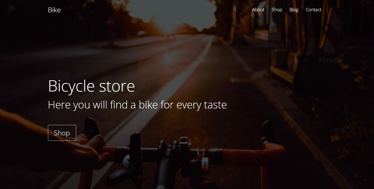 Bicycle store Landing Page Template