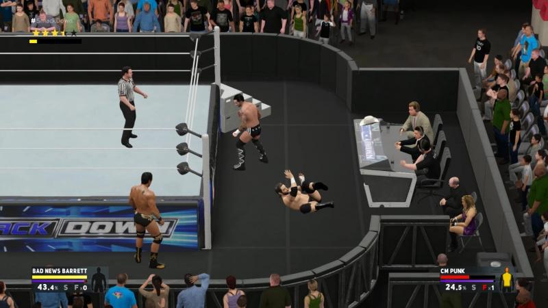 WWE2K17 BN Barret vs Cm Punk