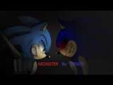 sonic and sonic.exe  MONSTER