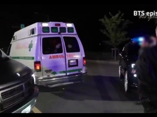 Namjoon [tries to get out of the ambulance and fails] - - seokjin and hoseok