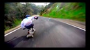 Downhill longboarding on highest speed best of the month April