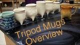 Frost porcelain Soft slab Tripod Mugs overview Pottery 1