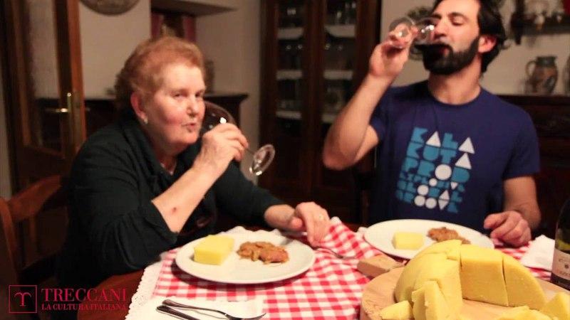 Nonne d'Italia in cucina - Polenta con salame, cipolle e aceto