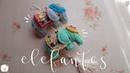 Colgante de elefantes a crochet ENGLISH SUBTITLES