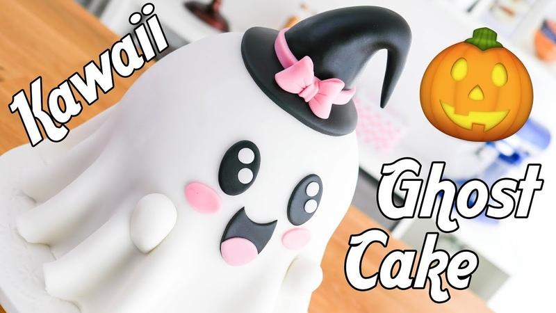 Kawaii GHOST Cake for HALLOWEEN 👻Tan Dulce