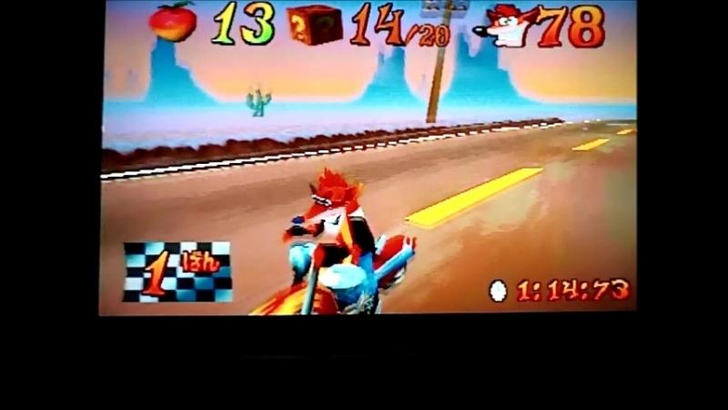 Crash Bandicoot 3:Warped(NTSC-J).Time Trial.Orange Asphalt.1:14:73.Дразнилка 2