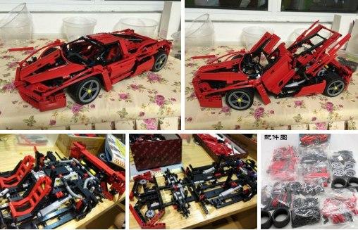 Lego-образный конструктор Ferrari