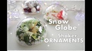 DIY Snow Globe Shaker Ornaments made from Half Baubles ♡ Maremi's Small Art ♡