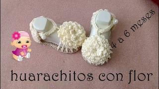 sandalias para bebe tejidas a crochet