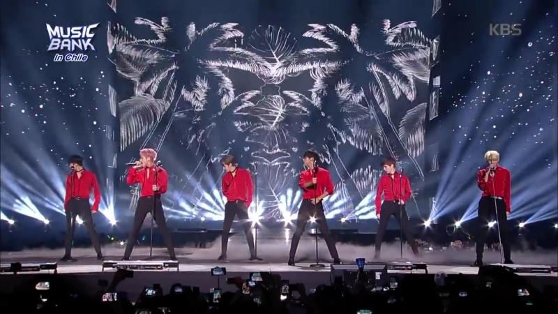 빅스(VIXX) - Havana MUSIC BANK (뮤직뱅크) in CHILE emitido por KBS el 2018.04.11