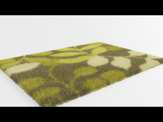 3ds Max Vray Realistic Rug Carpet with Vray Fur (Halı)