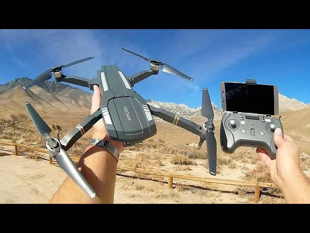 C Fly Obtain F803 Brushless FPV Folding 1080p FHD Camera Drone Flight Test Review
