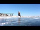 Siberias ice-skating 76 yo granny commutes on worlds DEEPEST lake