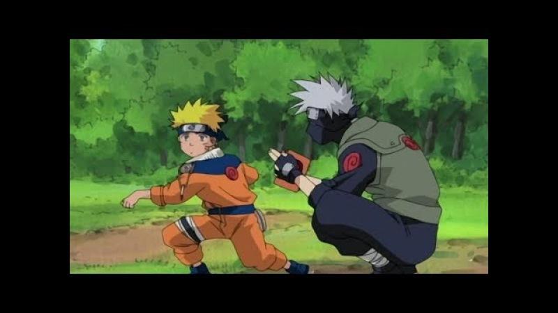 Наруто Саске и Сакура против Какаши (Полный Бой)