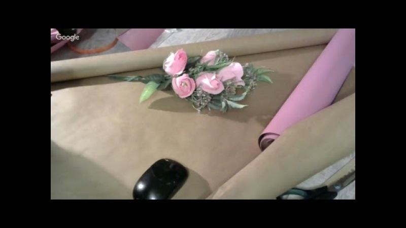 роза из конфет Букет своими руками