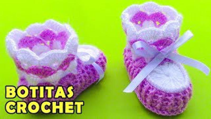 Botitas para bebé de 4 meses tejidos a crochet paso a paso