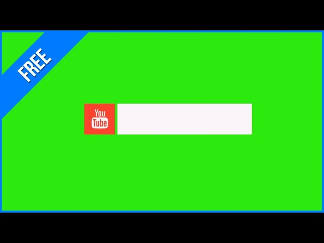 Barras do Youtube 2 - Youtube Lower Thirds 2 / Green Screen - Chroma Key