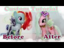TRANSFORMATION! My Little Pony Custom tutorial! How to reroot a My Little Pony Toy! DIY! OOAK