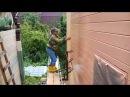 Самодельные самоподъёмные строительные леса Pump jack