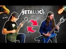 17 Metallica songs w/ SWAPPED Bass Guitar feat. Denis Pauna