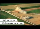 US-Fighters strafing on German land, 1945 (in color)