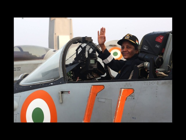 Indian Navy's carrier battle group with Raksha Mantri Nirmala Sitharaman