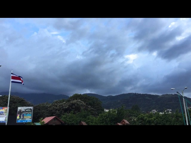 Skies Opened Like The End of Times in Escazu, Costa Rica!