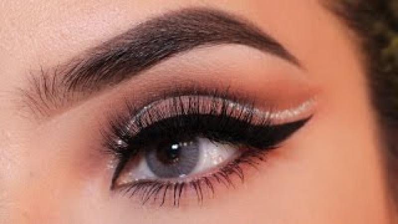 Pink Cut Crease With Glitter/ Marisol Bautista